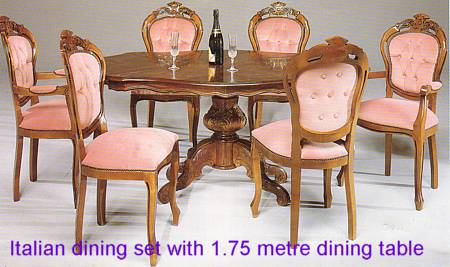 Dining room furniture from Regal Furnishings, England, UK.